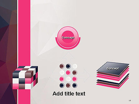 Polygonal Surface Abstract PowerPoint Template Slide 19