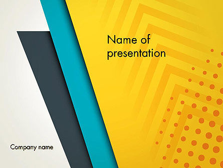 Three Colored Layers Abstract PowerPoint Template