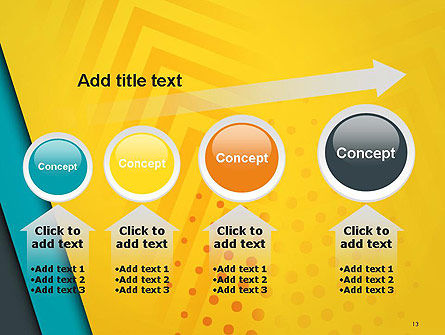 Three Colored Layers Abstract PowerPoint Template Slide 13