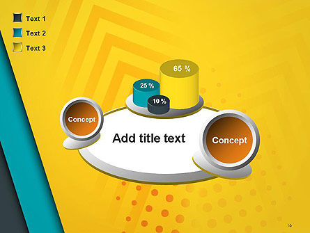 Three Colored Layers Abstract PowerPoint Template Slide 16