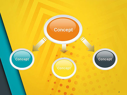 Three Colored Layers Abstract PowerPoint Template Slide 4
