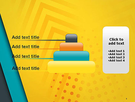 Three Colored Layers Abstract PowerPoint Template Slide 8