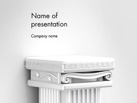 Art & Entertainment: Antique Podium for Exhibit PowerPoint Template #14320