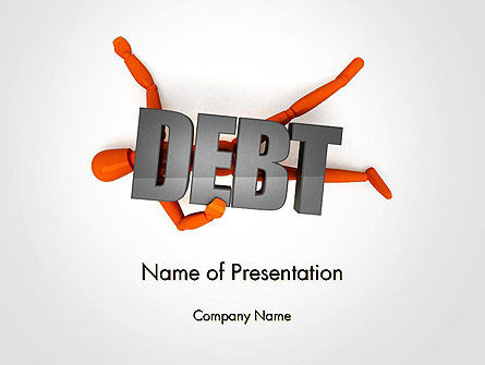 Mannequin and Debt PowerPoint Template