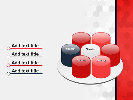 Hexagon Pattern Abstract PowerPoint Template Slide 12