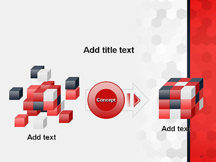 Hexagon Pattern Abstract PowerPoint Template Slide 17