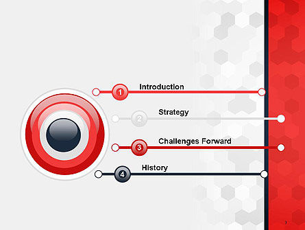 Hexagon Pattern Abstract PowerPoint Template Slide 3