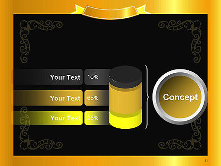 Gold Certificate Frame PowerPoint Template Slide 11