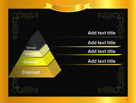 Gold Certificate Frame PowerPoint Template Slide 12