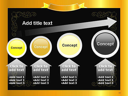 Gold Certificate Frame PowerPoint Template Slide 13