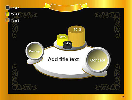 Gold Certificate Frame PowerPoint Template Slide 16
