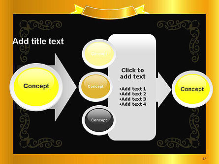 Gold Certificate Frame PowerPoint Template Slide 17