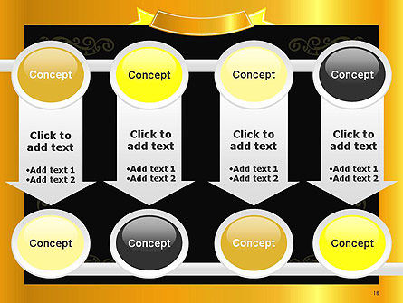 Gold Certificate Frame PowerPoint Template Slide 18