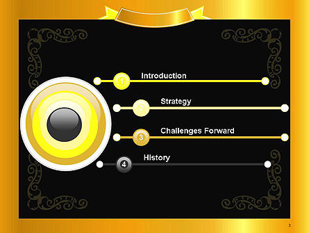 Gold Certificate Frame PowerPoint Template Slide 3