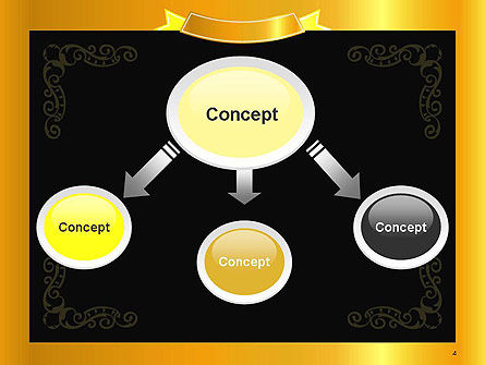 Gold Certificate Frame PowerPoint Template Slide 4