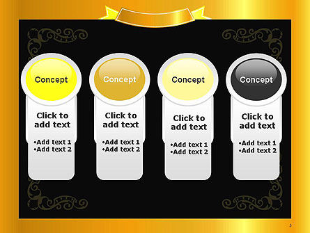 Gold Certificate Frame PowerPoint Template Slide 5