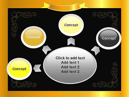 Gold Certificate Frame PowerPoint Template Slide 7