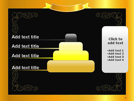 Gold Certificate Frame PowerPoint Template Slide 8