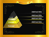 Gold Certificate Frame PowerPoint Template#12