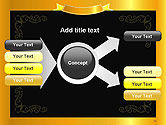 Gold Certificate Frame PowerPoint Template#14