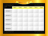 Gold Certificate Frame PowerPoint Template#15