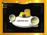 Gold Certificate Frame PowerPoint Template#16