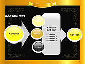 Gold Certificate Frame PowerPoint Template#17