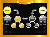 Gold Certificate Frame PowerPoint Template#19