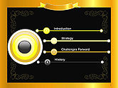 Gold Certificate Frame PowerPoint Template#3