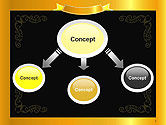 Gold Certificate Frame PowerPoint Template#4