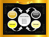 Gold Certificate Frame PowerPoint Template#6