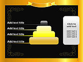 Gold Certificate Frame PowerPoint Template#8