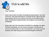 Blue Cross and Chronometer PowerPoint Template#2