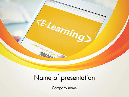 E-Learning Student Study Online PowerPoint Template, 14328, Education & Training — PoweredTemplate.com
