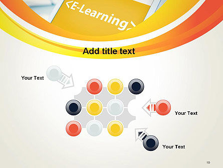 E-Learning Student Study Online PowerPoint Template Slide 10