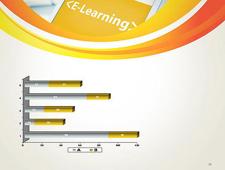 E-Learning Student Study Online PowerPoint Template Slide 11