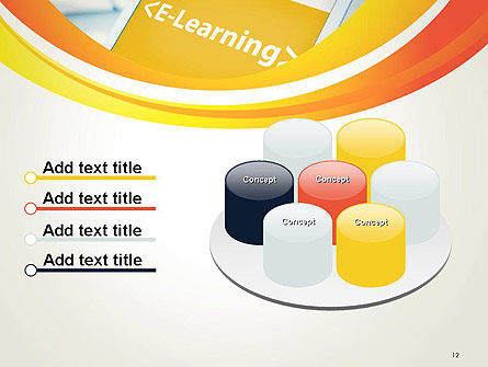 E-Learning Student Study Online PowerPoint Template Slide 12