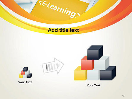 E-Learning Student Study Online PowerPoint Template Slide 13