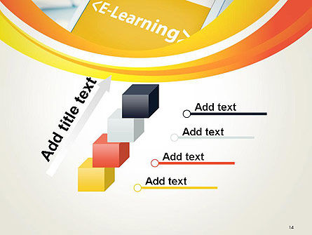 E-Learning Student Study Online PowerPoint Template Slide 14