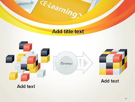 E-Learning Student Study Online PowerPoint Template Slide 17