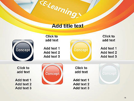 E-Learning Student Study Online PowerPoint Template Slide 18