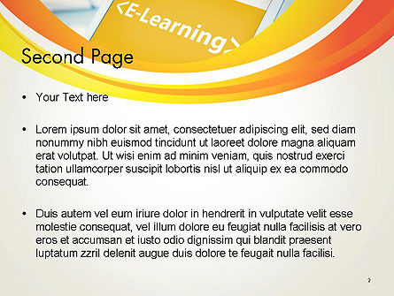 E-Learning Student Study Online PowerPoint Template Slide 2