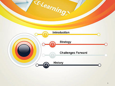 E-Learning Student Study Online PowerPoint Template Slide 3