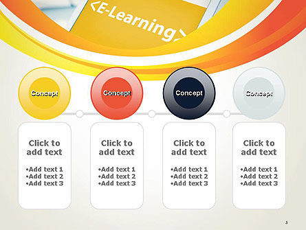 E-Learning Student Study Online PowerPoint Template Slide 5
