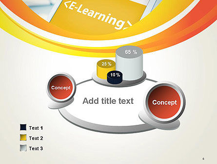 E-Learning Student Study Online PowerPoint Template Slide 6