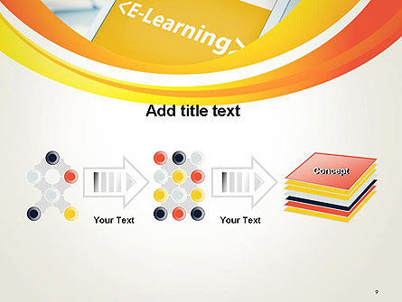E-Learning Student Study Online PowerPoint Template Slide 9