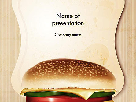 Cheeseburger PowerPoint Template, 14331, Food & Beverage — PoweredTemplate.com