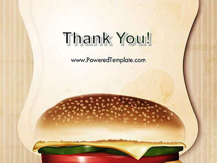 Cheeseburger PowerPoint Template Slide 20