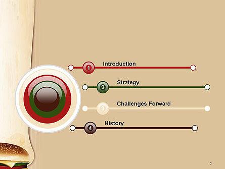 Cheeseburger PowerPoint Template Slide 3