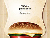 Food & Beverage: Plantilla de PowerPoint - hamburguesa con queso #14331